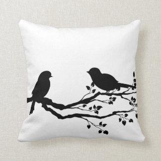 Birds On Branch Reversible Throw Pillows Throw Cushion