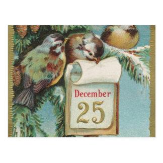 Birds on Decemeber 25th Post Cards