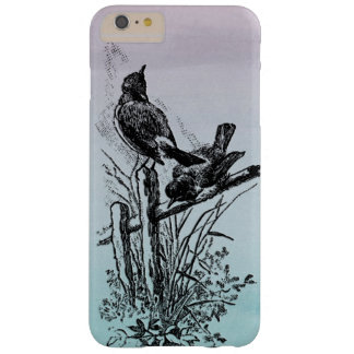 birds on fence illustration barely there iPhone 6 plus case