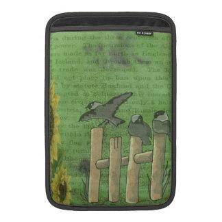 Birds on Fence MacBook Air Sleeves