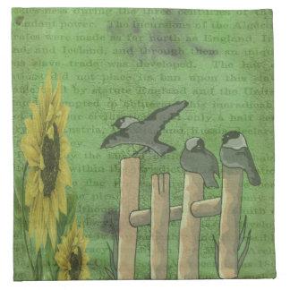 Birds on Fence Napkin