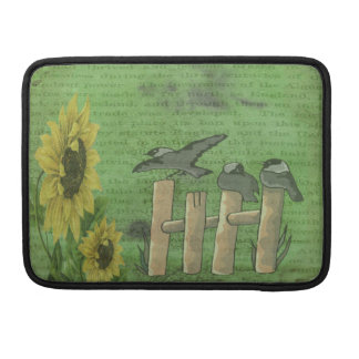 Birds on Fence Sleeves For MacBook Pro