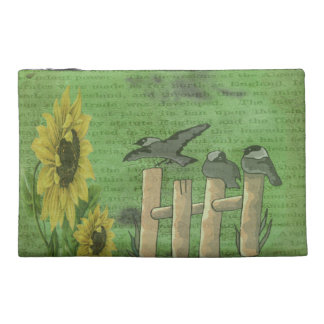 Birds on Fence Travel Accessories Bag