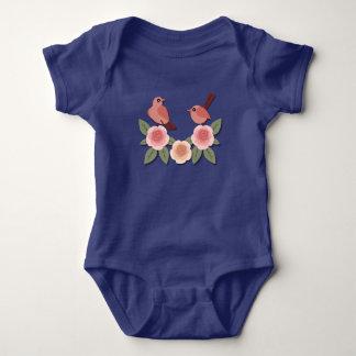 Birds on Flowers Baby Bodysuit