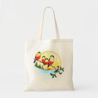BIRDS ON HOLLY TOTE BAG