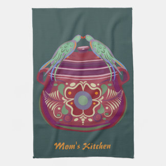 Birds on Pot Kitchen Towel
