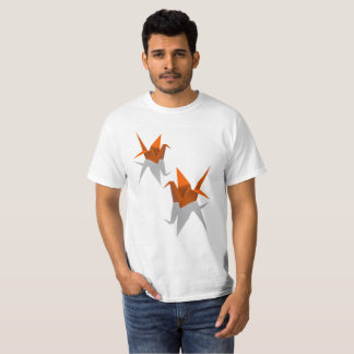Birds Origami Paper T-Shirt