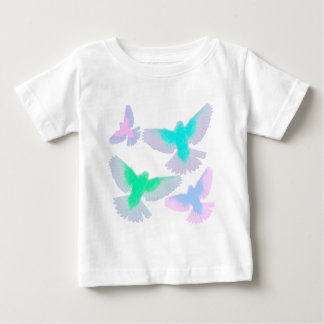 Birds Pastel Baby T-Shirt
