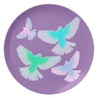 Birds Pastel Plate
