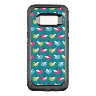 Birds pattern Blue OtterBox Commuter Samsung Galaxy S8 Case