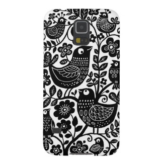 Birds Pattern Galaxy S5 Case - Black and White