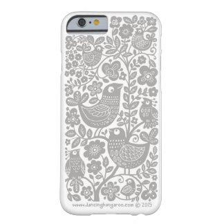 Birds Pattern iPhone 6 Case - light warm grey