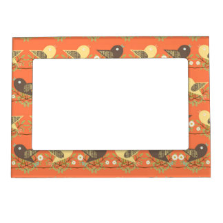 Birds pattern magnetic picture frame