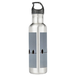 Birds perched on wire 710 ml water bottle