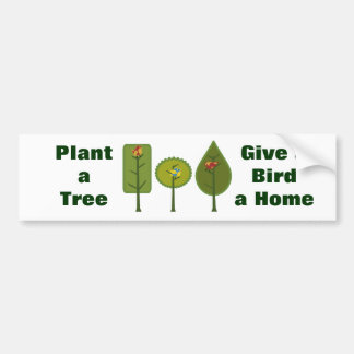 Birds Plant a Tree Bumper Sticker