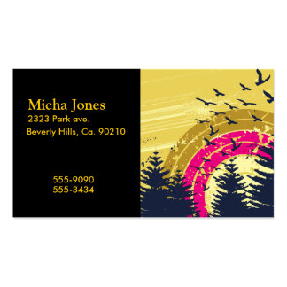 Birds & Rainbow In The Golden Sky Double-Sided Standard Business Cards (Pack Of 100)