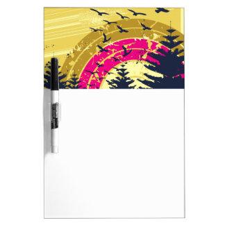 Birds & Rainbow In The Golden Sky Dry-Erase Whiteboards