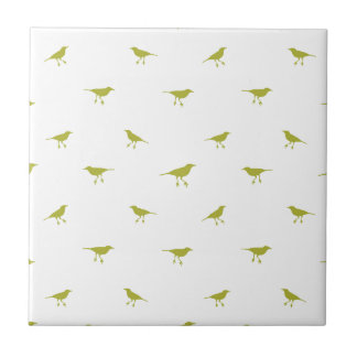Birds Silhouette Print Ceramic Tile