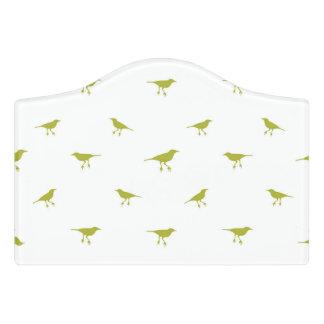 Birds Silhouette Print Door Sign