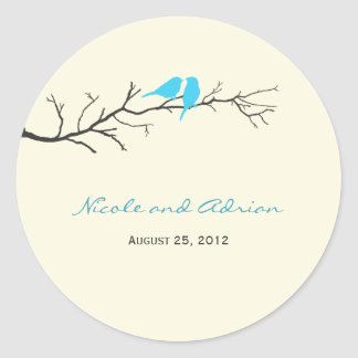 Birds Silhouettes Favor Stickers or Envelope Seals