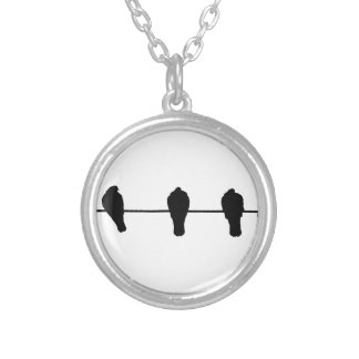 Birds Silver Plated Necklace