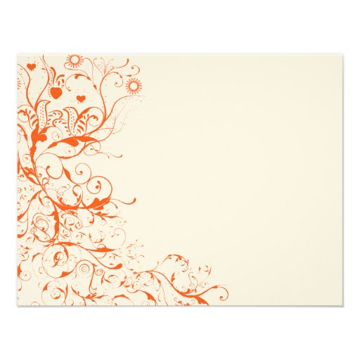 Birds & Swirls Wedding RSVP Response Card