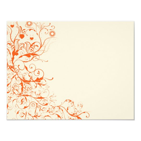 Birds & Swirls Wedding RSVP Response Card