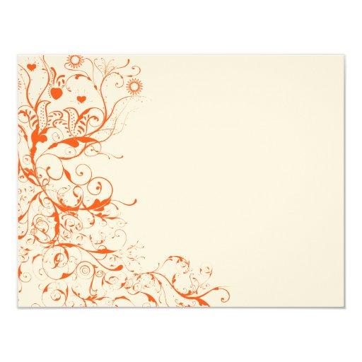 Birds & Swirls Wedding RSVP Response Card 11 Cm X 14 Cm Invitation Card