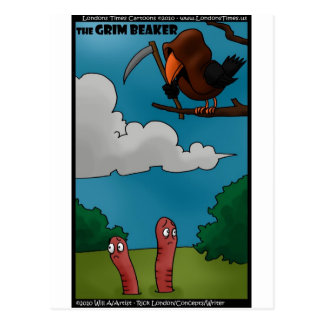 Birds To Worms The Grim Beaker Funny Gifts & Tees Postcard