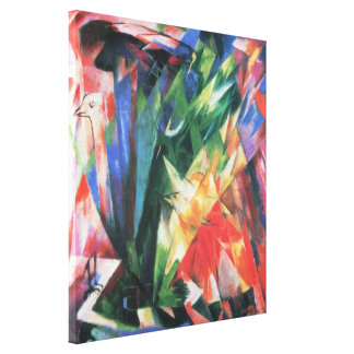 Birds (Vogel) by Franz Marc, Vintage Cubism Art Gallery Wrap Canvas