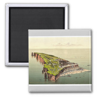 Birdseye view, Helgoland, Germany rare Photochrom Square Magnet