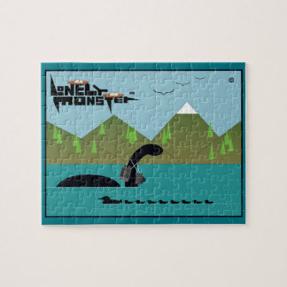 Birdwatcher Lonely Monster Jigsaw Puzzle