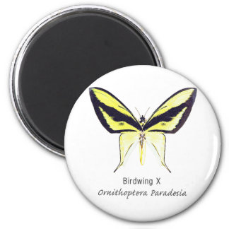 Birdwing X Butterfly with Name 6 Cm Round Magnet