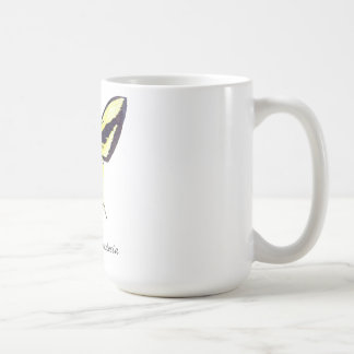 Birdwing X Butterfly with Name Basic White Mug