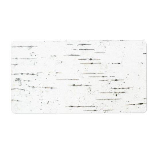 Birh bark shipping label