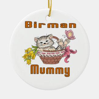 Birman Cat Mom Ceramic Ornament