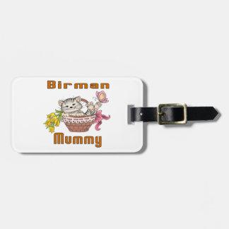 Birman Cat Mom Luggage Tag