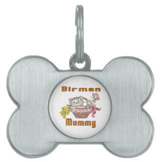 Birman Cat Mom Pet Name Tag