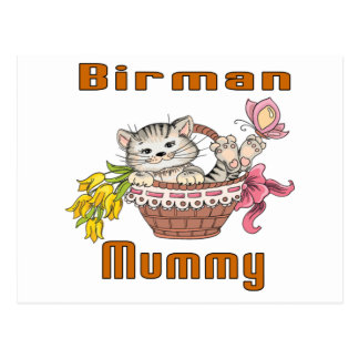 Birman Cat Mom Postcard
