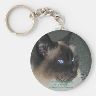BIRMAN RAGDOLL CAT Collection Basic Round Button Key Ring