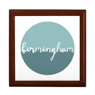 Birmingham, Alabama | Blue Ombre Circle Large Square Gift Box