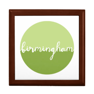 Birmingham, Alabama | Green Ombre Circle Large Square Gift Box