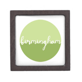 Birmingham, Alabama | Green Ombre Circle Premium Keepsake Box
