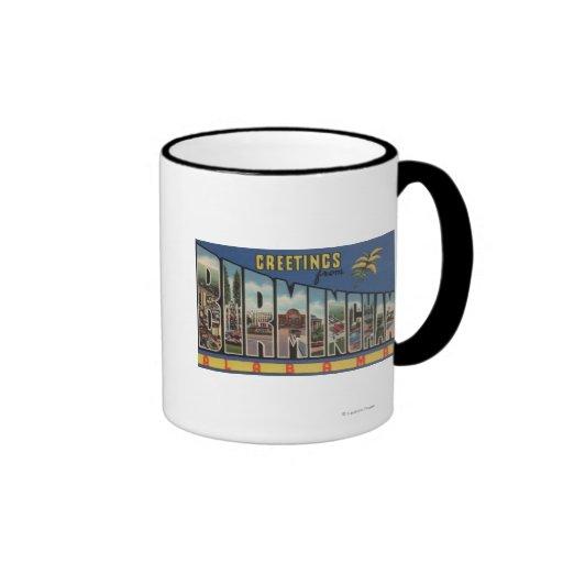 Birmingham, Alabama - Large Letter Scenes Coffee Mugs