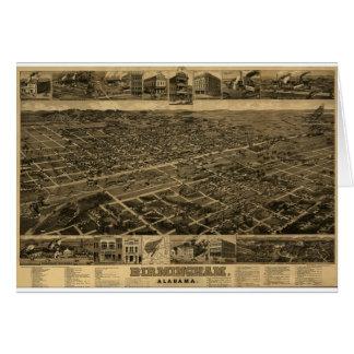 Birmingham Alabama Late 1800's Birds Eye View Greeting Card