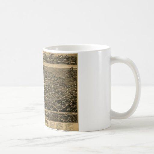 Birmingham Alabama Late 1800's Birds Eye View Mug