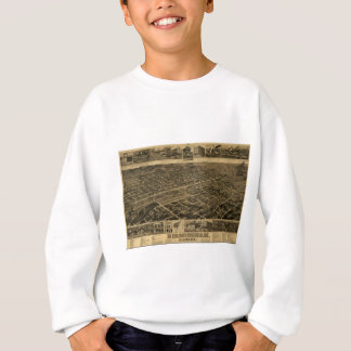 Birmingham Alabama Late 1800's Birds Eye View Sweatshirt
