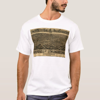 Birmingham Alabama Late 1800's Birds Eye View T-Shirt