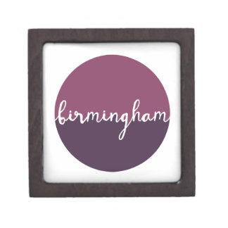Birmingham, Alabama | Purple Ombre Circle Premium Keepsake Boxes