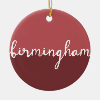 Birmingham, Alabama | Rust Circle Ombre Ceramic Ornament